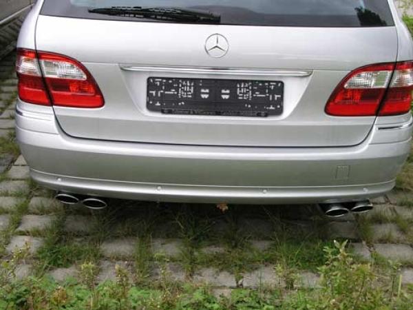 Doppelflutige Auspuffblende F 220 R Benziner Mercedes W211 211